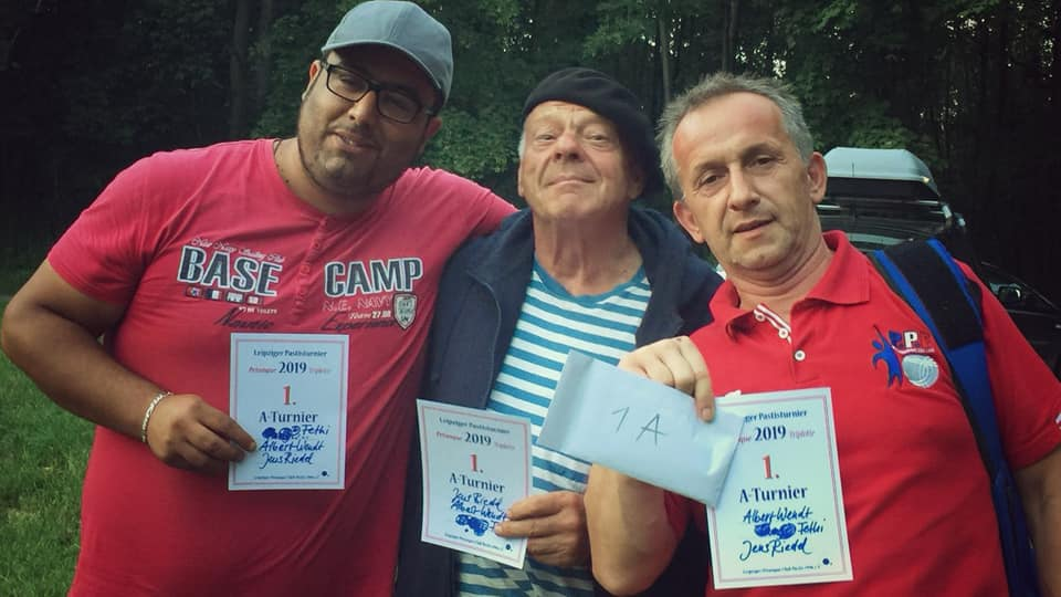 Fethi, Albert und Jens: Die Gewinner des Pastisturnier 2019